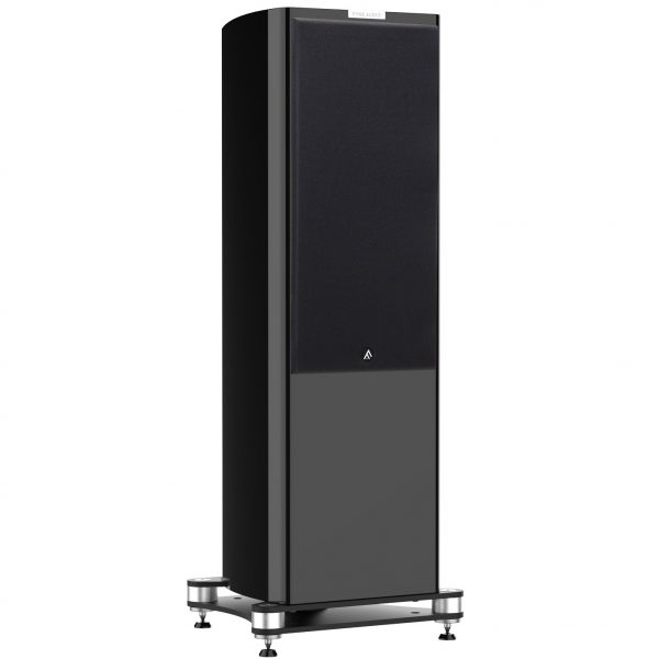 F Q Gon Piano Gloss Black large floorstander